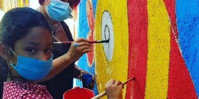 CHILDREN PAINT THEIR SEA WITH THE HEART OF CHANGE 2021